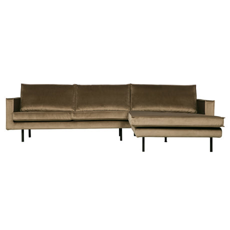 BePureHome Bank Rodeo Taupe Samt 300x86 / 155x85cm