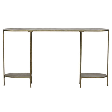 BePureHome Table d'appoint Federal en métal doré 145x30x79cm