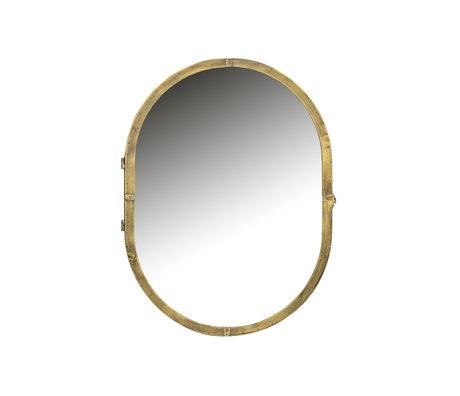 BePureHome Spiegelschrank Entfalte Goldmetall 47x11x60cm
