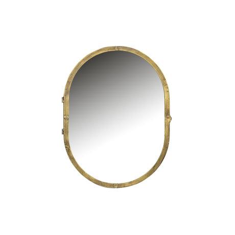 BePureHome Meuble miroir Déplier métal doré 47x11x60cm