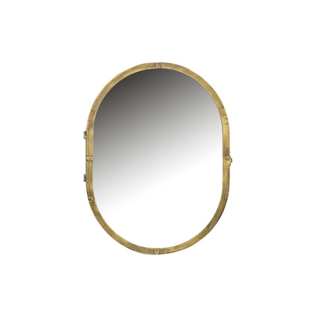 BePureHome Mirror cabinet Unfold gold metal 47x11x60cm