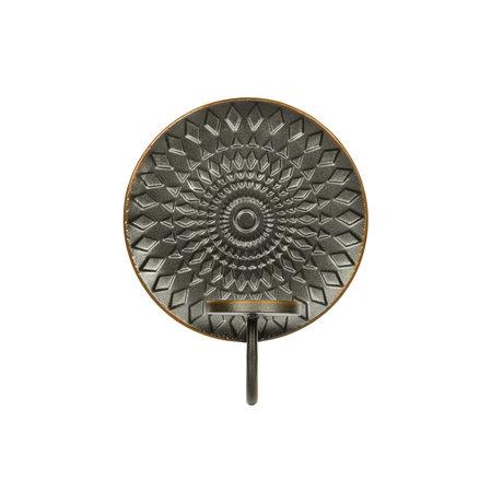 BePureHome Kerzenhalter Blendschwarzes Metall 20x11x25cm