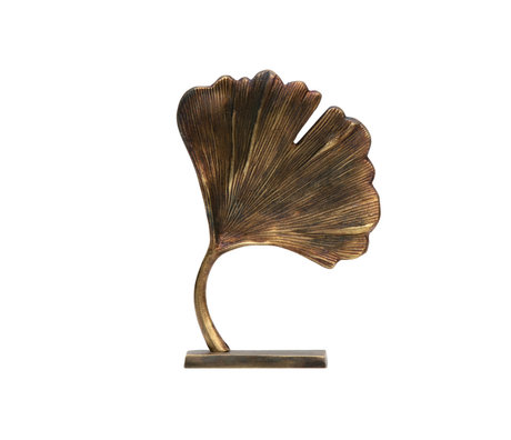 BePureHome Deco object Stylish gold metal 26x18x7cm