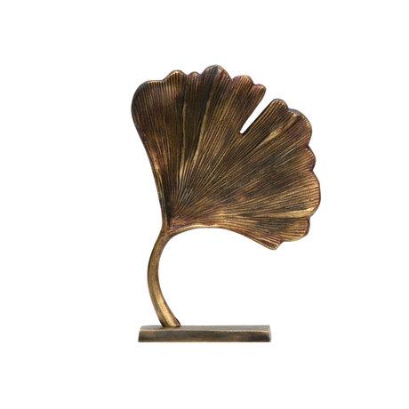 BePureHome Deko-Objekt Stilvolles Goldmetall 26x18x7cm