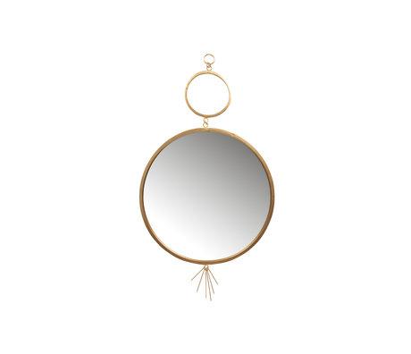 BePureHome Spiegel Tail goud metaal 51x94cm