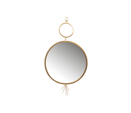 BePureHome Tail Spiegel Metaal Antique Brass