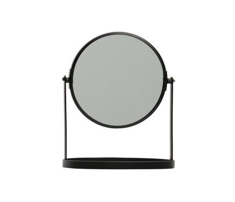 LEF collections Mirror Yentl black metal 24x19x12cm