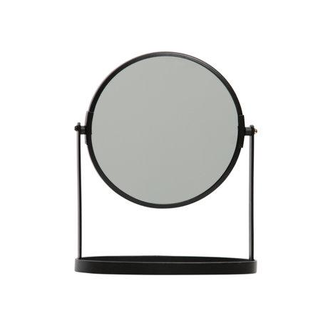 LEF collections Miroir Yentl métal noir 24x19x12cm