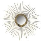 BePureHome Spiegel mit Teelichthalter Sunny Gold Metall Ø45cm