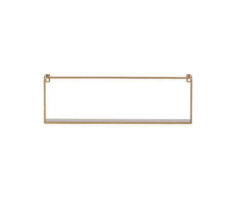 LEF collections Wall shelf Meert gold iron 16x50x8cm