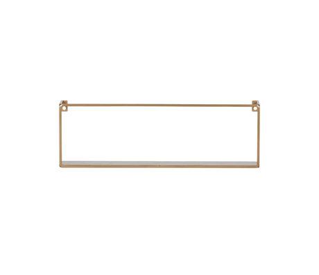 LEF collections Wandplank Meert goud ijzer 50x8x16cm