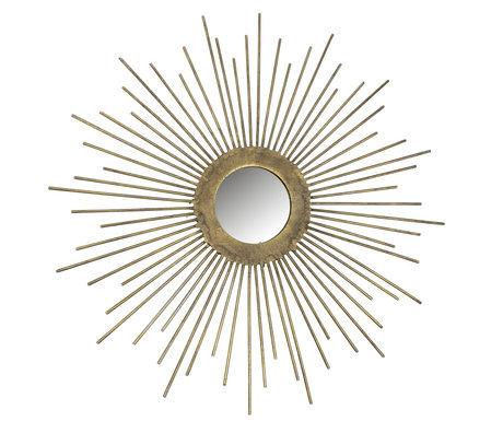 BePureHome Sunny Spiegel Metaal Antique Brass Ø34cm