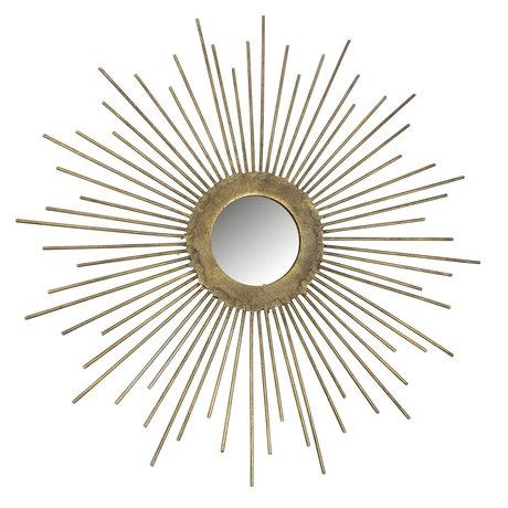 BePureHome Spiegel Sunny goud metaal Ø34cm