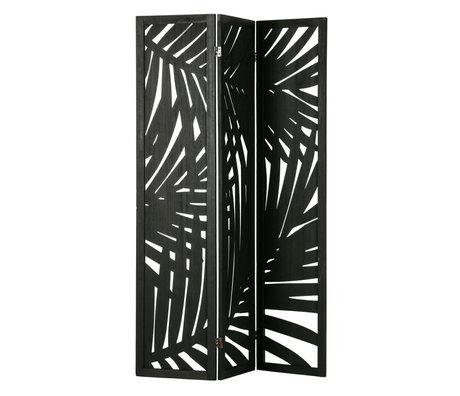 WOOOD Kamerscherm Harper zwart hout 120x2x170cm