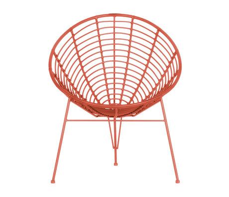 WOOOD Chaise longue Jane (jardin) melon rose métal 72x81x88cm