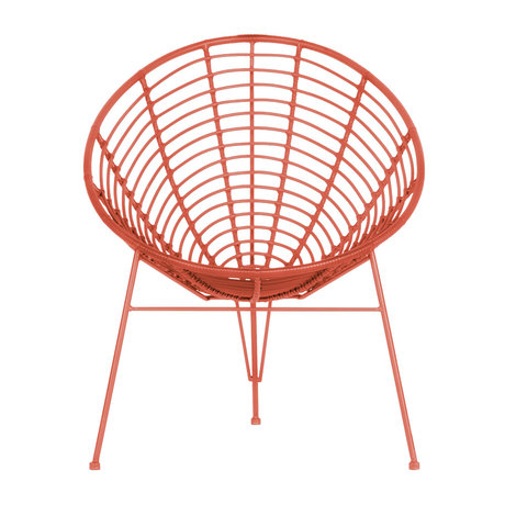 WOOOD Lounge chair Jane (garden) melon pink metal 72x81x88cm