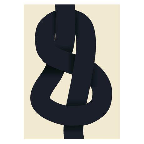 Paper Collective PosterDer Knoten beige schwarzes Papier 50x70cm