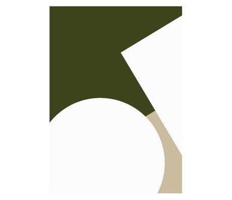 Paper Collective Poster Simple Forms III beige grün weiß Papier 50x70cm