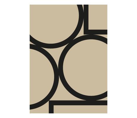 Paper Collective Affiche Simple Forms II papier beige noir 50x70cm