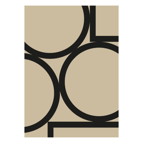 Paper Collective Poster Simple Forms II beige black paper 50x70cm