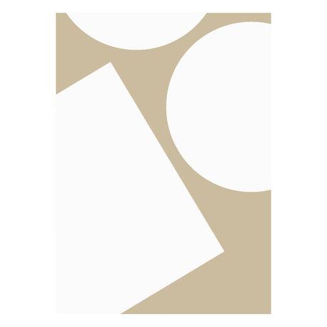 Paper Collective Poster Einfache Formen I beige weißes Papier 50x70cm
