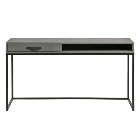 WOOOD Schreibtisch Morris Ton grau schwarz Kiefer 130x58x75cm