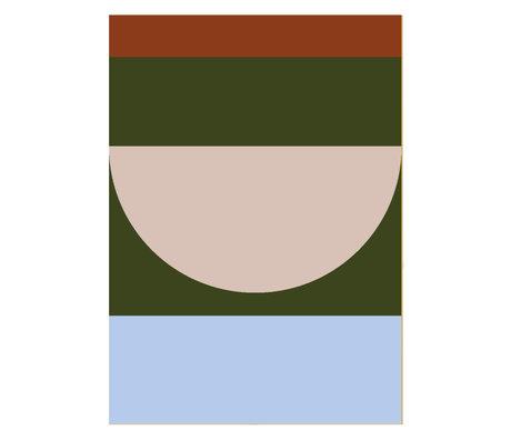 Paper Collective Poster Halbkreise IV - Mehrfarbenpapier 50x70cm