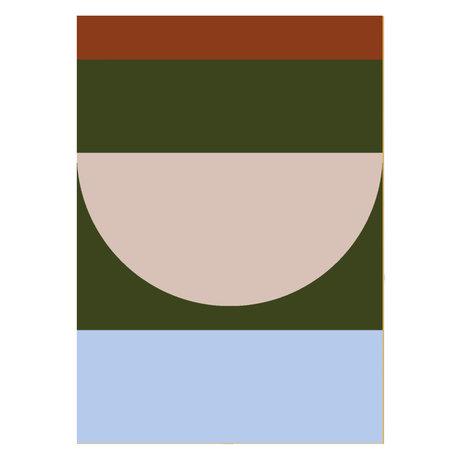 Paper Collective Affiche Half Circles IV - Papier multicolore 50x70cm