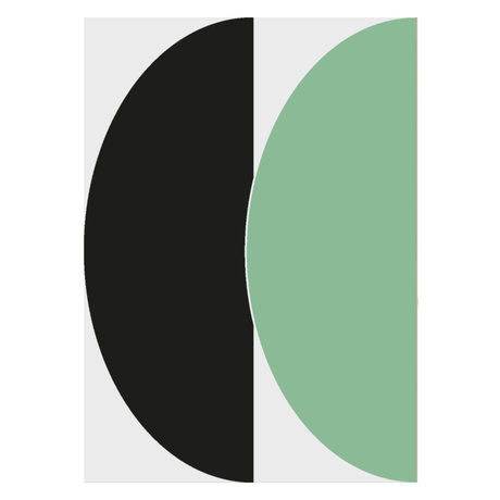 Paper Collective Poster Half Circles III - Green / Blue green blue paper 50x70cm