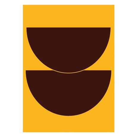 Paper Collective Poster Half Circles II - Yellow yellow paper 50x70cm