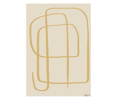 Paper Collective Affiche Different Ways II - Papier jaune beige jaune 50x70cm