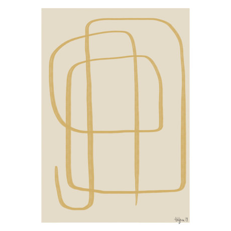 Paper Collective Poster Different Ways II - Yellow beige yellow paper 50x70cm
