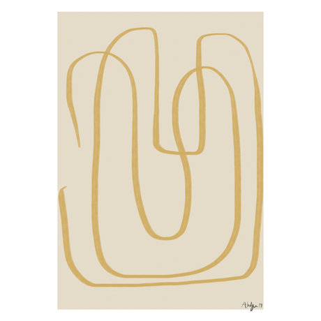 Paper Collective Affiche Different Ways I - Papier jaune beige jaune 50x70cm