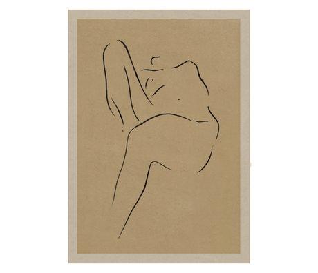 Paper Collective Poster Grace II warm beige zwart papier 50x70cm