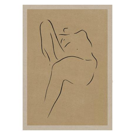 Paper Collective Grace II poster warm beige black paper 50x70cm