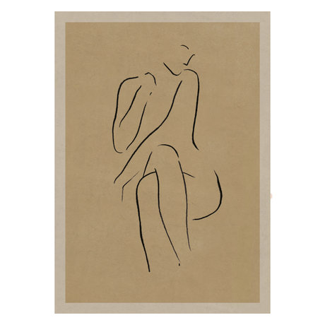 Paper Collective Grace I poster warm beige black paper 50x70cm