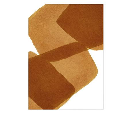Paper Collective Poster Ensõ  - Burned I bruin wit papier 50x70cm