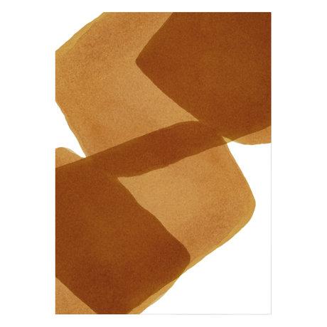 Paper Collective Affiche Ensõ - Burned I brun papier blanc 50x70cm
