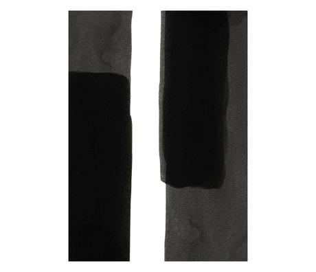 Paper Collective Affiche Ensõ - Noir I papier blanc noir 50x70cm