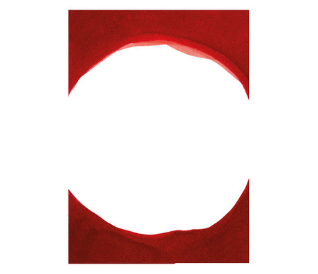 Paper Collective Poster Ensõ  - Red III rood wit papier 50x70cm