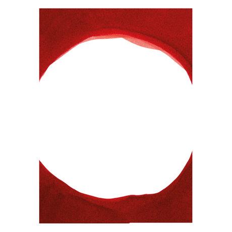 Paper Collective Affiche Ensõ - Papier blanc rouge III rouge 50x70cm