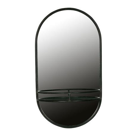 BePureHome Spiegel Make-Up zwart metaal 42x20x76cm