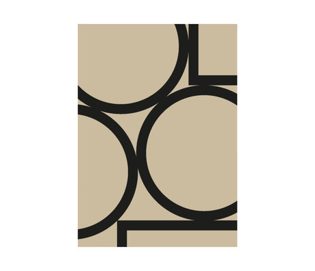 Paper Collective Poster Simple Forms II beige black paper 30x40cm