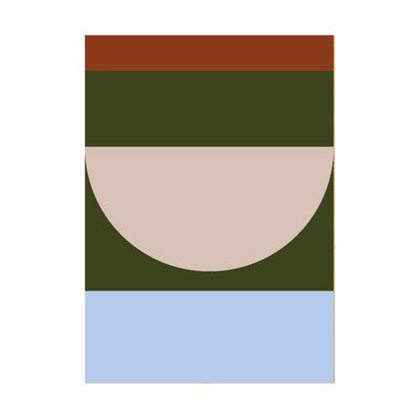 Paper Collective Affiche Half Circles IV - Papier multicolore 30x40cm