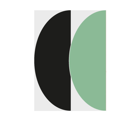 Paper Collective Poster Half Circles III - Green / Blue green blue paper 30x40cm