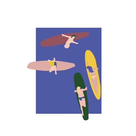 Paper Collective Poster Surfer blaues Papier 30x40cm