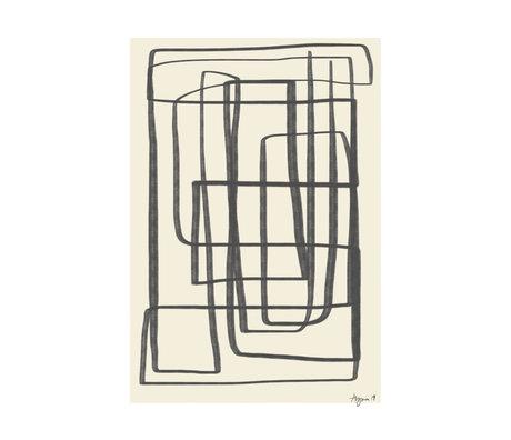 Paper Collective Poster Verschiedene Möglichkeiten II - Schwarz beige schwarzes Papier 30x40cm