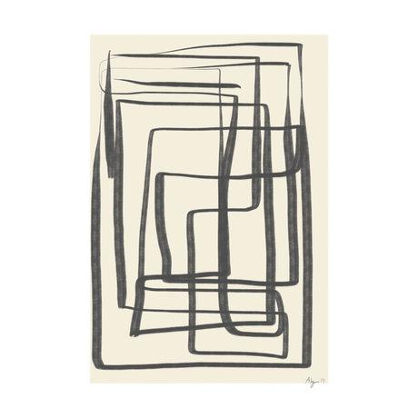 Paper Collective Poster Verschiedene Möglichkeiten I - Schwarz beige schwarzes Papier 30x40cm