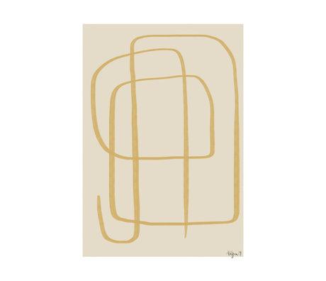 Paper Collective Affiche Different Ways II - Papier jaune beige jaune 30x40cm