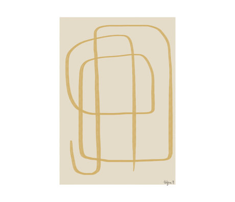Paper Collective Poster Different Ways II - Yellow beige geel papier 30x40cm